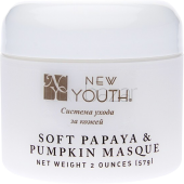 Маска с экстрактом папайи и тыквы Soft Papaya and Pampking Masque New Youth (США) 57мл